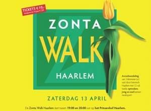 Optreden Jean Zijta tijdens Zonta Walk Haarlem
